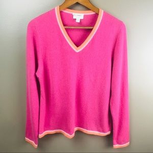 CHARTER CLUB Cashmere V Neck Long Sleeve Sweater